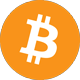 Orange bitcoin logotype