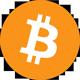Orange bitcoin-logotyp